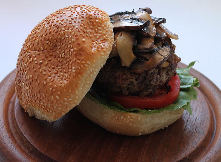 המבורגר פטריות ביתי