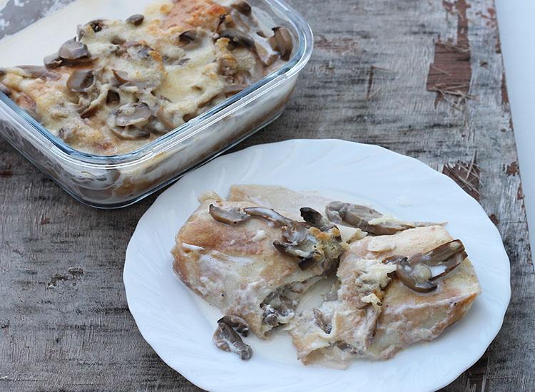 בלינצס גבינה ופטריות