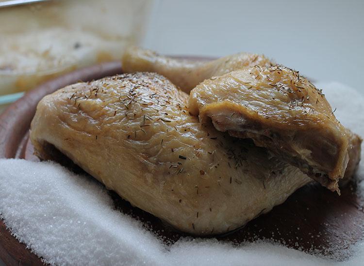 עוף במלח הכי פשוט והכי טעים