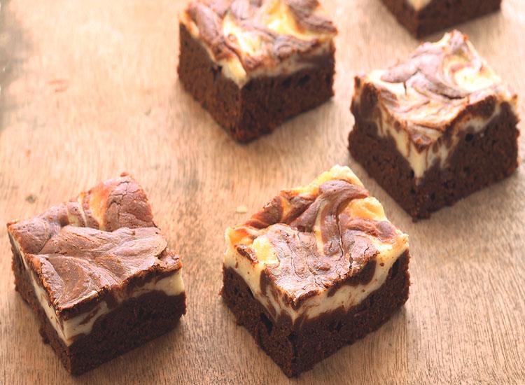 בראוניז שוקולד גבינה