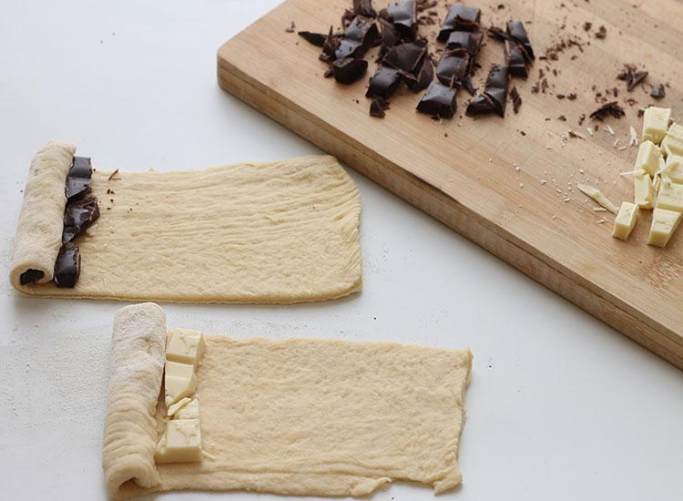 קוראסון שוקולד הכנה 4
