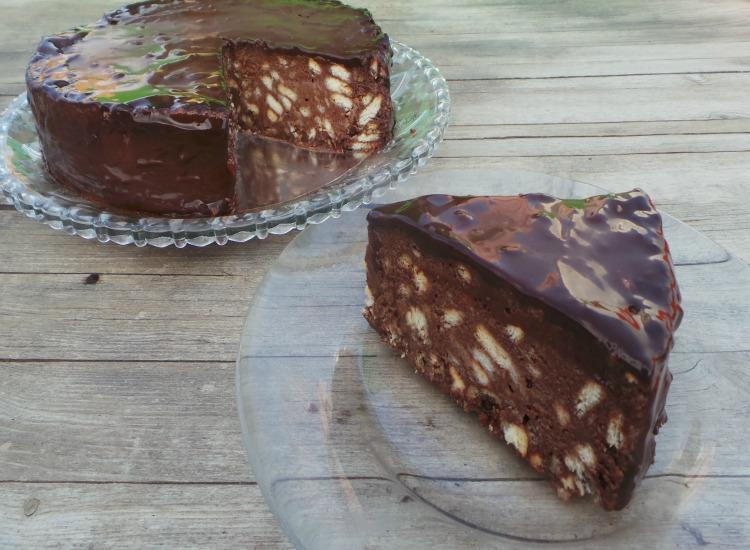 עוגת שוקולד ביסקויטים פרווה/ טבעונית