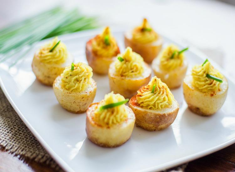 תפוחי אדמה ממולאים בממרח שעועית לימה