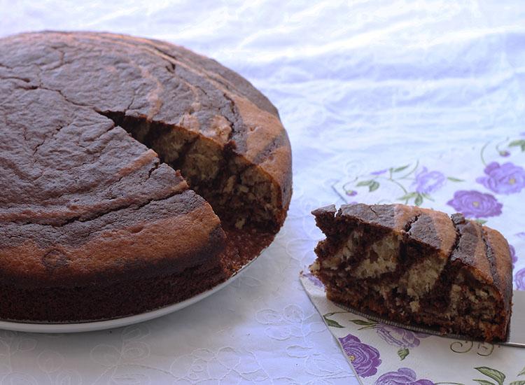 עוגת שיש זברה