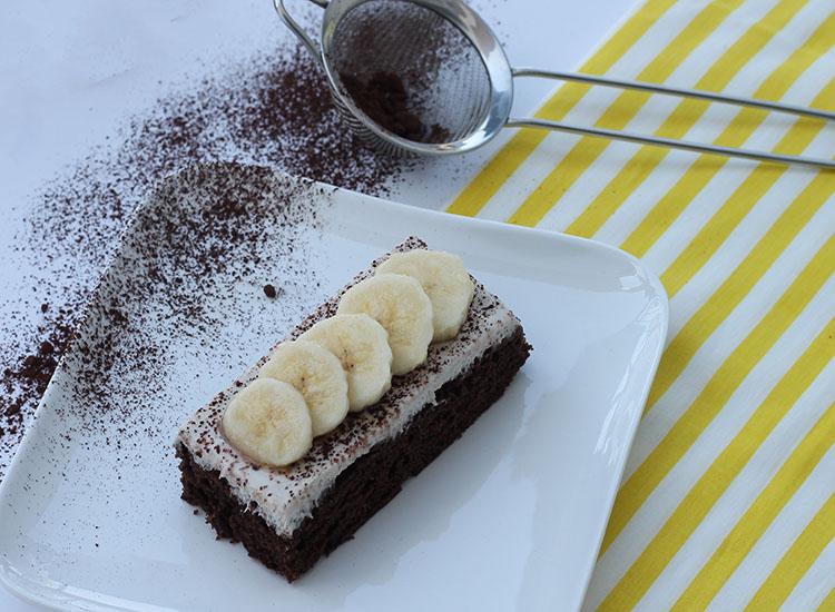 עוגת שוקולד בננות