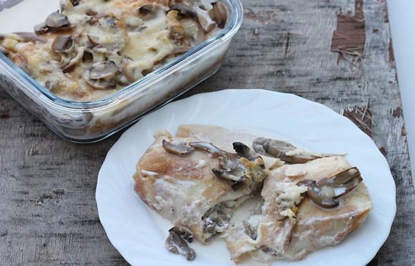 בלינצ'ס גבינה ופטריות