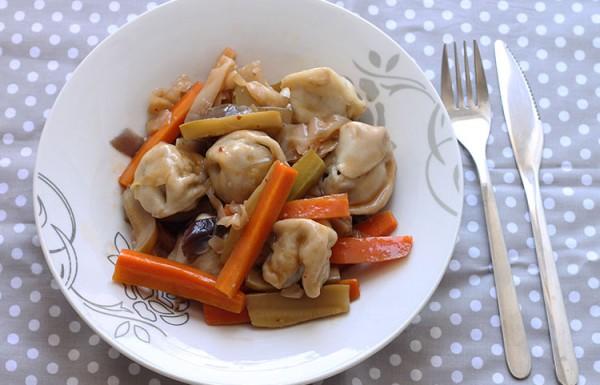 קרעפלך מוקפץ עם ירקות